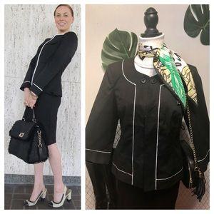 Chadwick's black white spectator jacket blazer